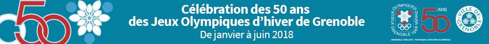 Mairie de Grenoble - Bannière accueil - 50 ans des JO février 2018
